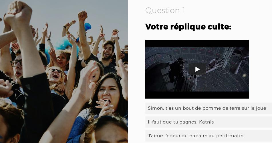 Un exemple de quiz du journal Le Temps.