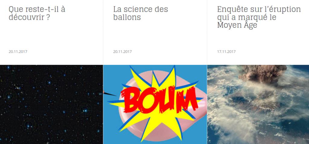 Extrait du journal en ligne du CNRS