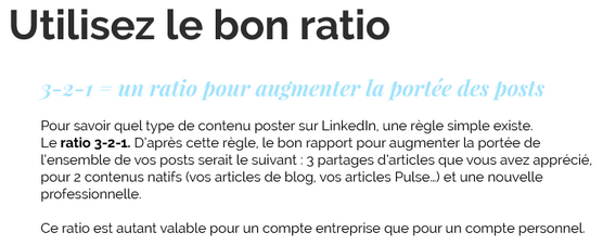 LinkedIn : comment définir le bon ratio entre différents types de posts ?