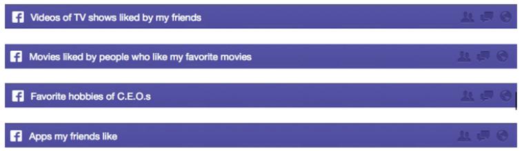 Un exemple des recherches permises par le graph search.
