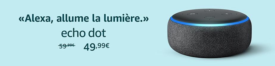 Une publicité pour Alexa sur Amazon.fr.